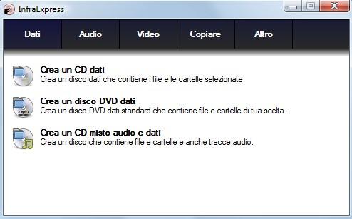dati_infrarecorder InfraRecorder, programma open source (gratis) per la masterizzazione di CD e DVD per il sistema operativo Windows