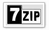 logo_7zip 7 zip programma multi formato per creare e decomprimere files zippati - Simile a WinZip e PKZip - Compressione dei files in formato nativo 7z (i livelli d'efficienza nella compressione possono superare il 30% in più rispetto al formato Zip standard)