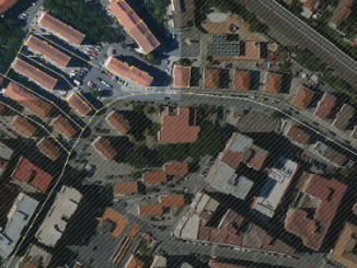 Immobili e strade sulla mappa OpenStreetMap