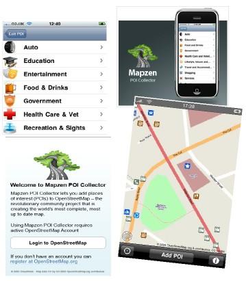 mapzen_poi_collector-openstreetmapitaliait Mapzen POI Collector: Programma gratuito per smartphones  per aggiungere punti d'interesse (POI) alle mappe del progetto OpenStreetMap in maniera semplice e veloce