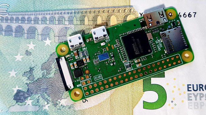 Le dimensioni del Raspberry Pi Zero W